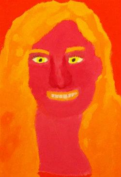 orange-red aura